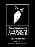 Tasmanian Tourism Awards Hosted Accommodation Bronze Winner 2018